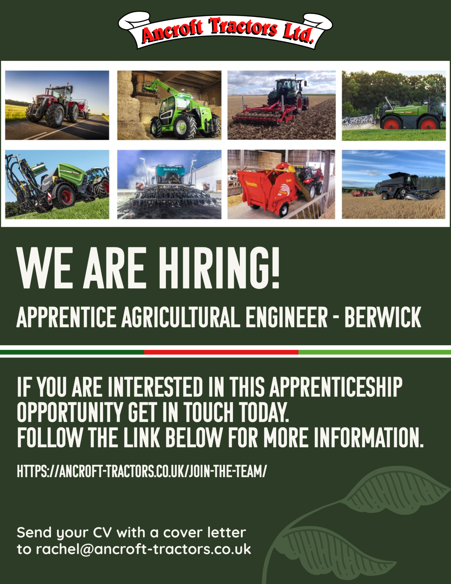 Apprentice Agricultural Engineer